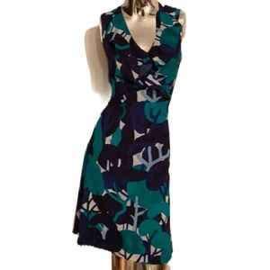 Ann Taylor Fit and Flare Abstract Dress NWOT